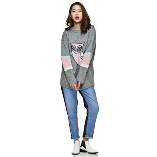 Techno Chouette Knit Pullover Lucky Chouette