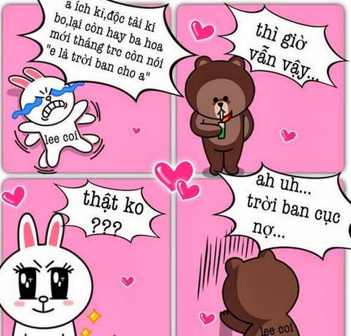 Tranh vui hài hước Gấu Brown và Thỏ Cony 1