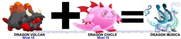 como sacar el dragon musica en dragon city combinacion 3