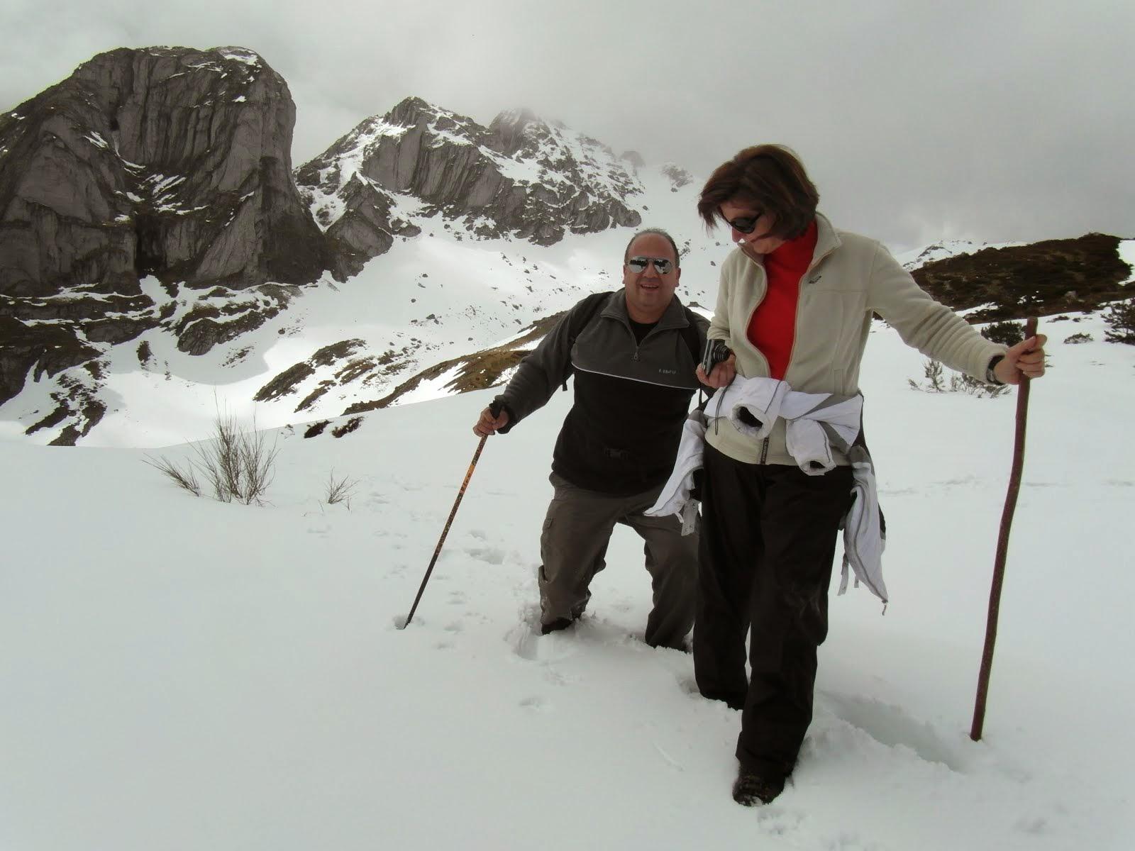 Amigos valencianos en la nieve