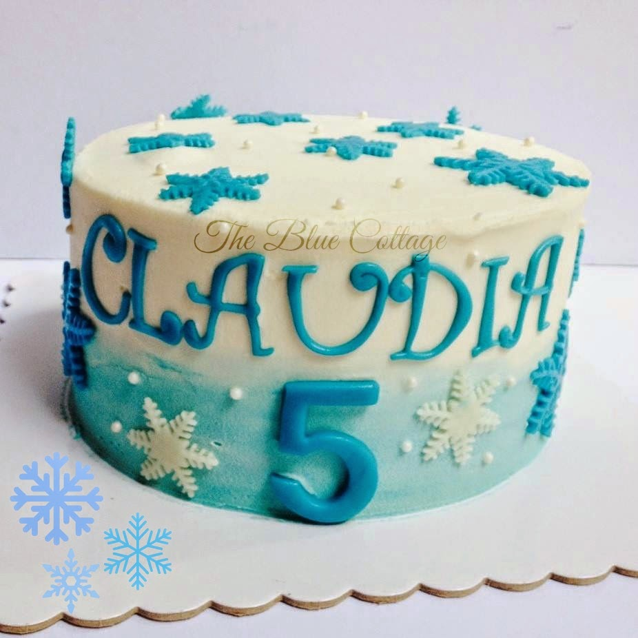 The Blue Cottage Birthday Cake Frozen Themed Cake With Anna Elsa