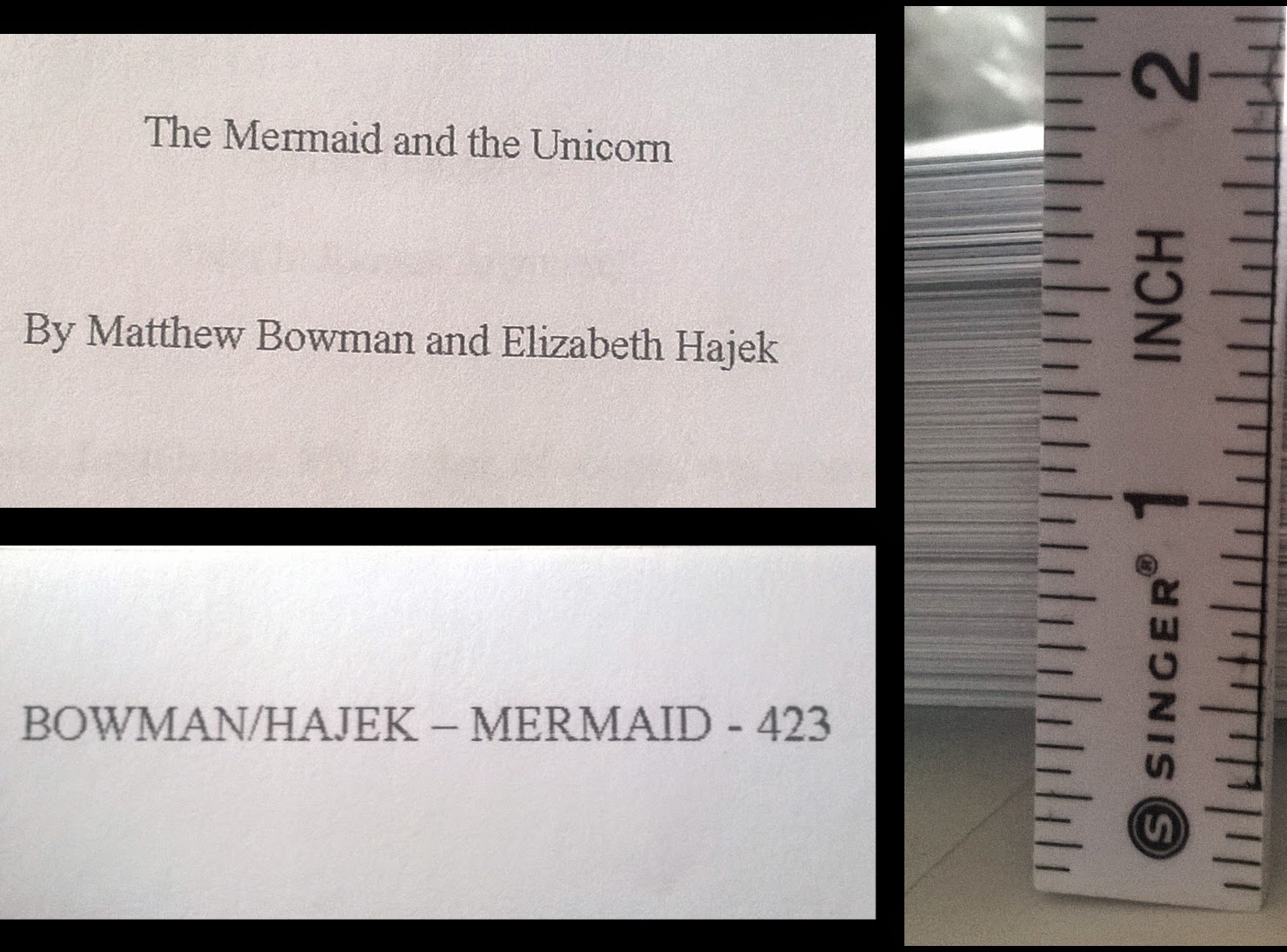 elenatintil the mermaid and the unicorn first printout is huge