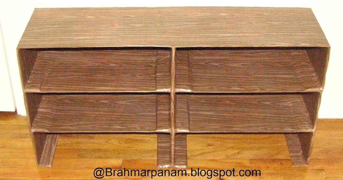 brahmarpanam make your own cardboard shoe rack. Black Bedroom Furniture Sets. Home Design Ideas