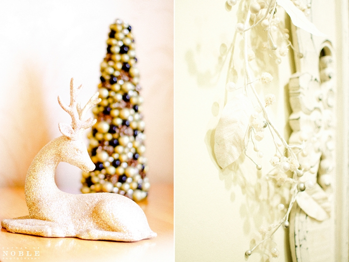 sparkle gold reindeer decor winter christmas weddings