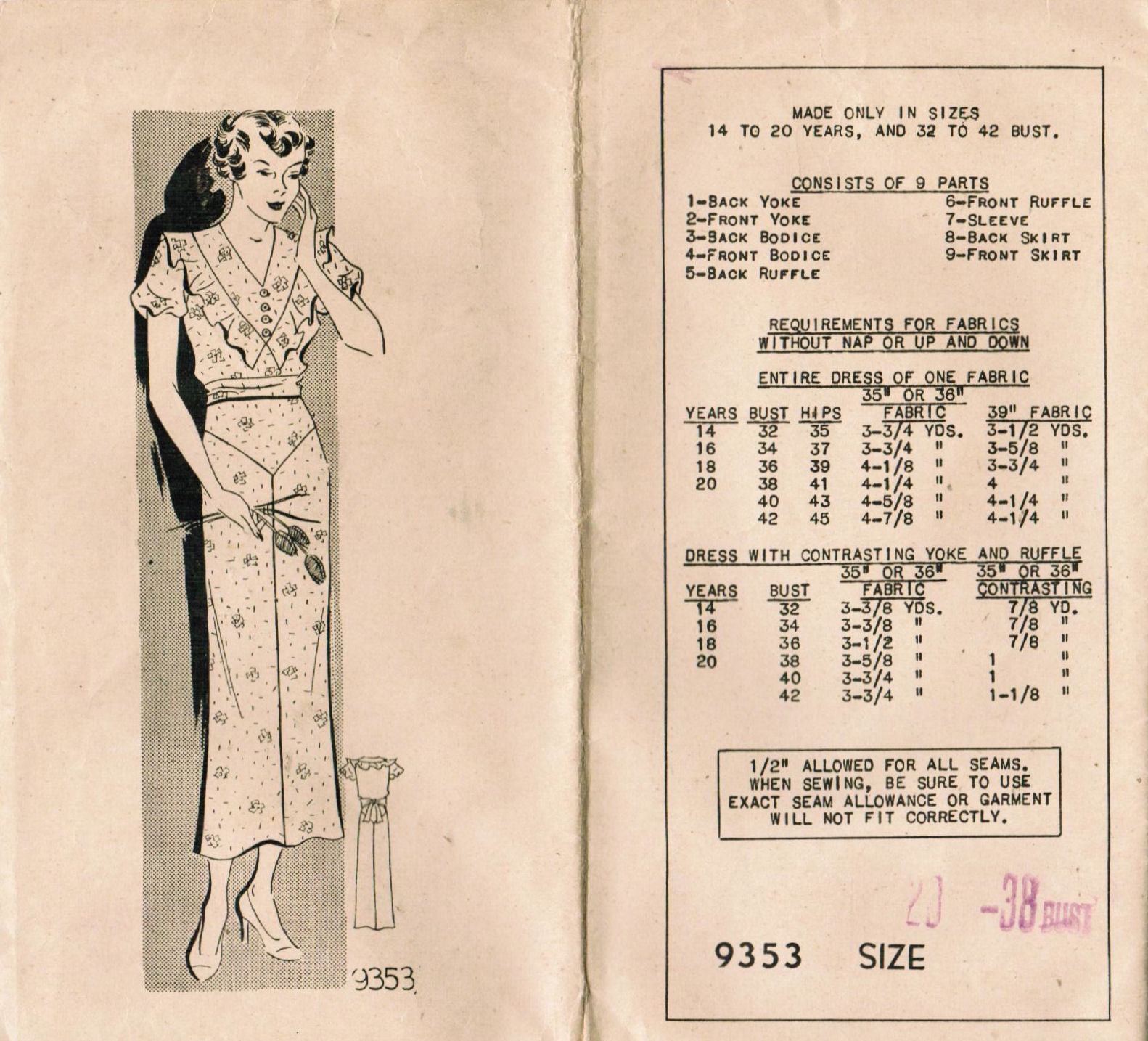 The midvale cottage post history of sewing 1920s 1930s history of sewing 1920s 1930s vintage pattern sizes and body types jeuxipadfo Choice Image
