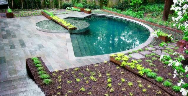 Fotos de piscinas dise os de formas de casas for Diseno de piscinas para casas de campo