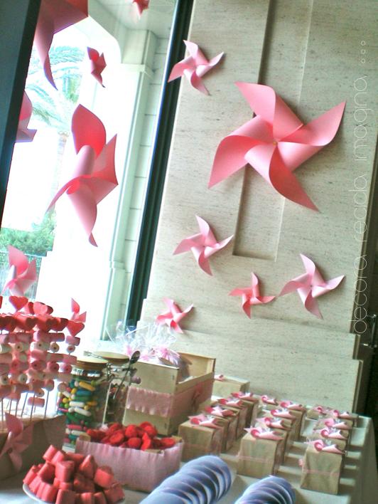 Bautizo Decoracion Jardin ~ Elegimos los molinillos de viento como elemento decorativo Con ellos