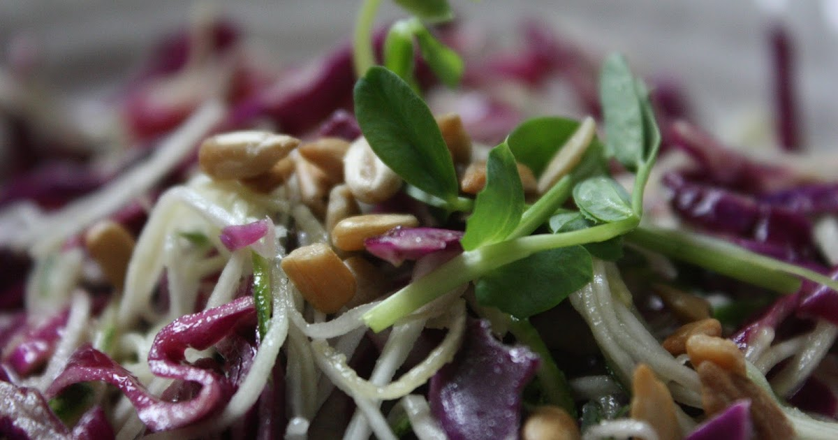 Red Cabbage and Zucchini Slaw   Low-Carbing It