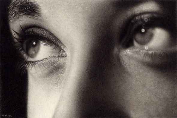 Emanuele Dascanio pinturas retratos e natureza morta hiper-realistas Olhar