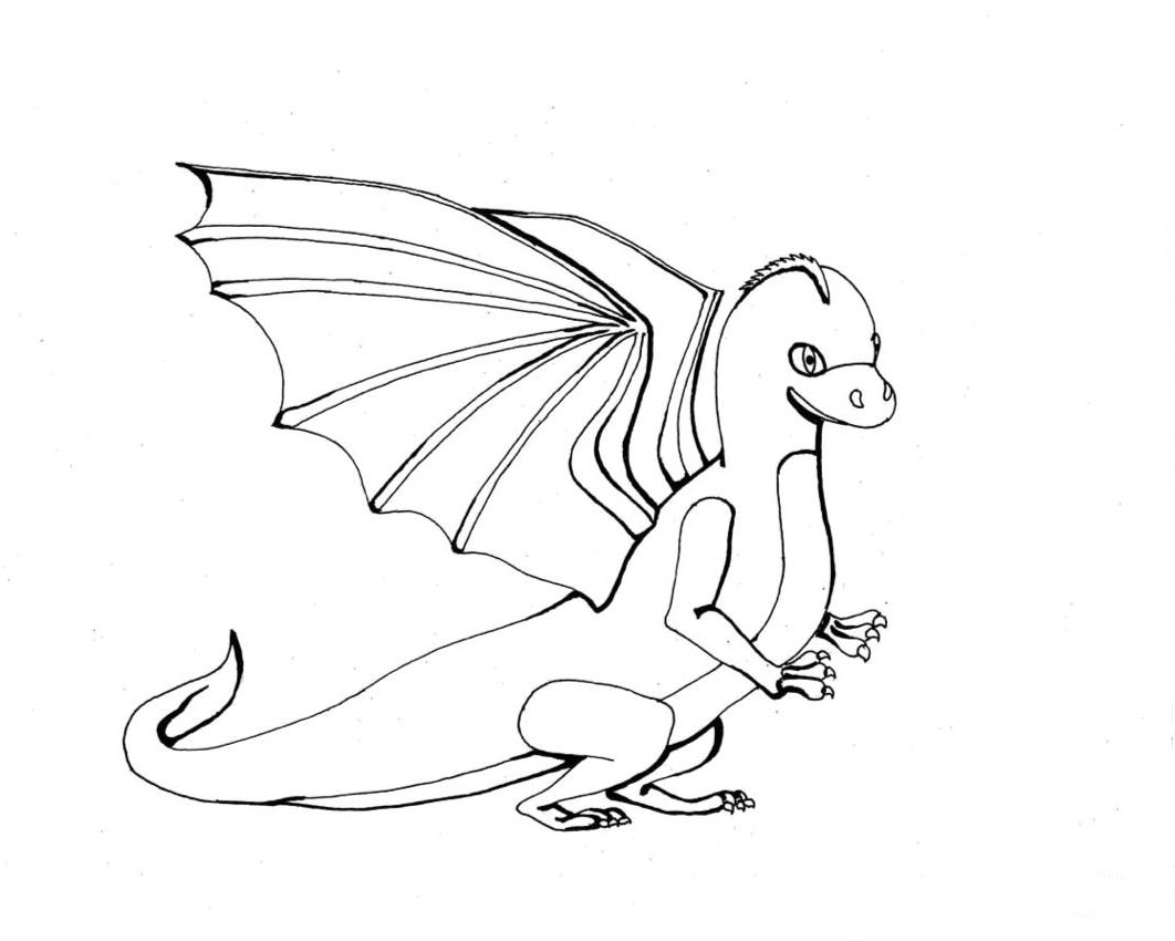 Dragon coloring pages realistic realistic coloring pages for Baby dragon coloring pages