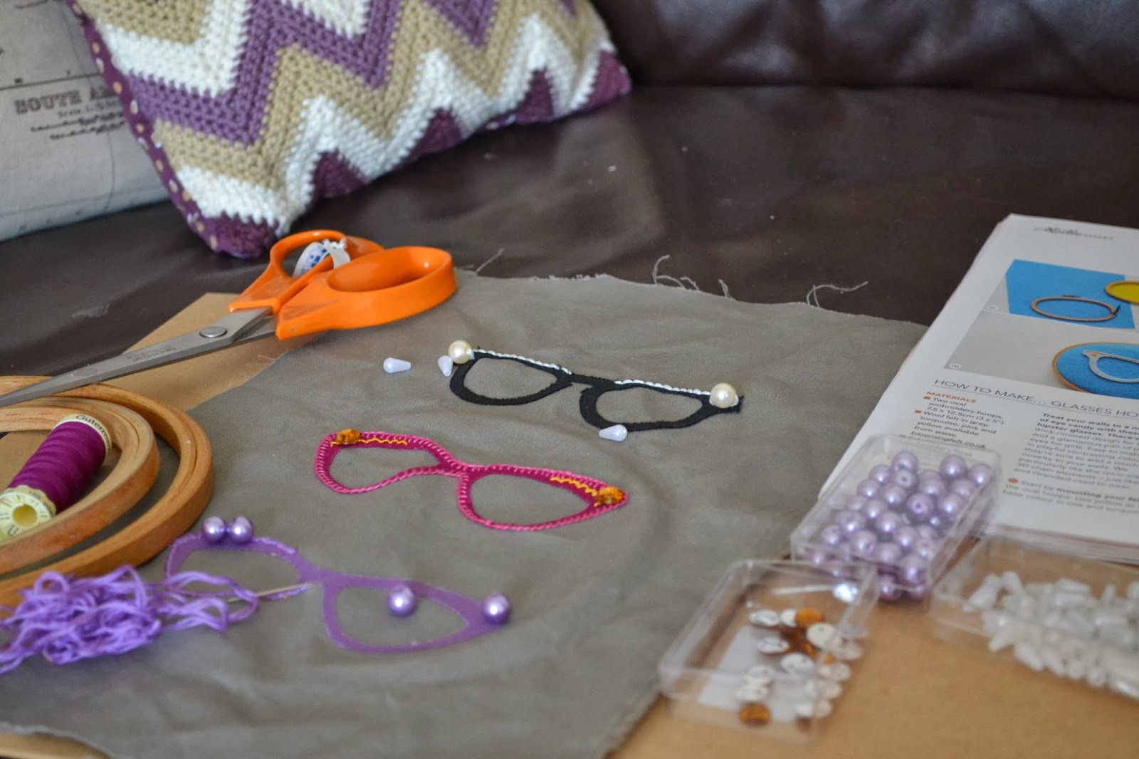 kitchen table sewing spectacles