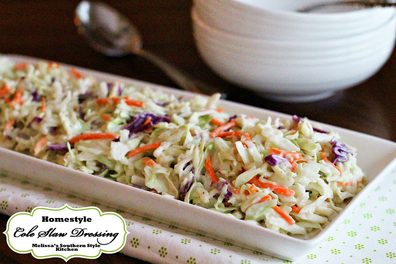 Melissa's Southern Style Kitchen: Homestyle Cole Slaw Dressing