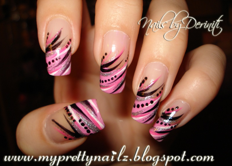 Pink French Tip Nail Art Designs