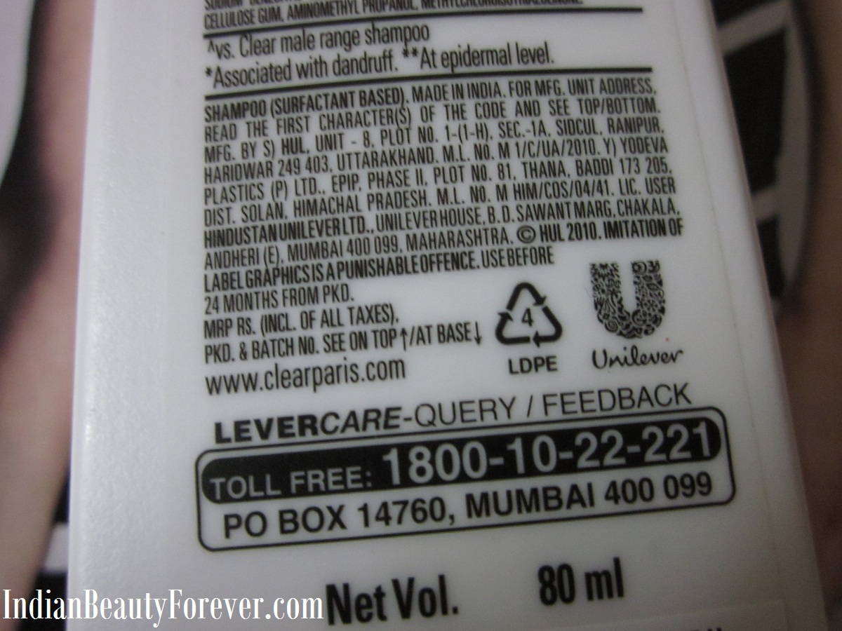 Clear Anti Dandruff Shampoo review