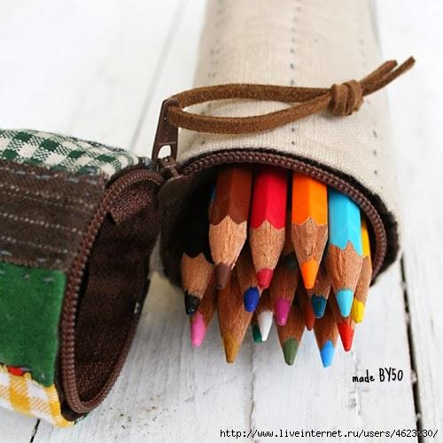 Карандашницы и пеналы из ткани. Pencil holders and cases. DIY tutorial