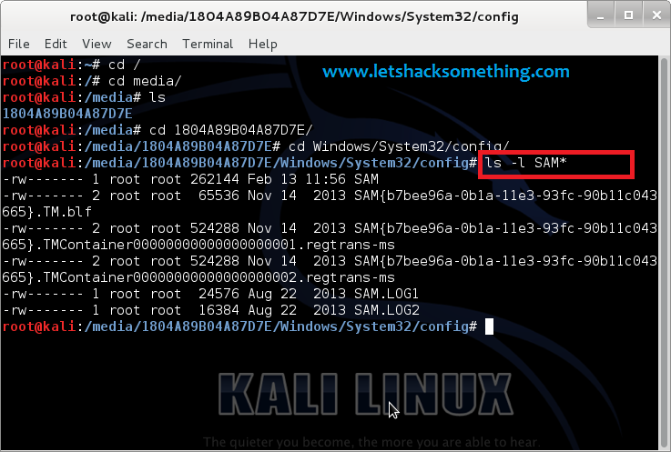 break windows 8.1,8,7,vista,xp administrator passwords kali linux