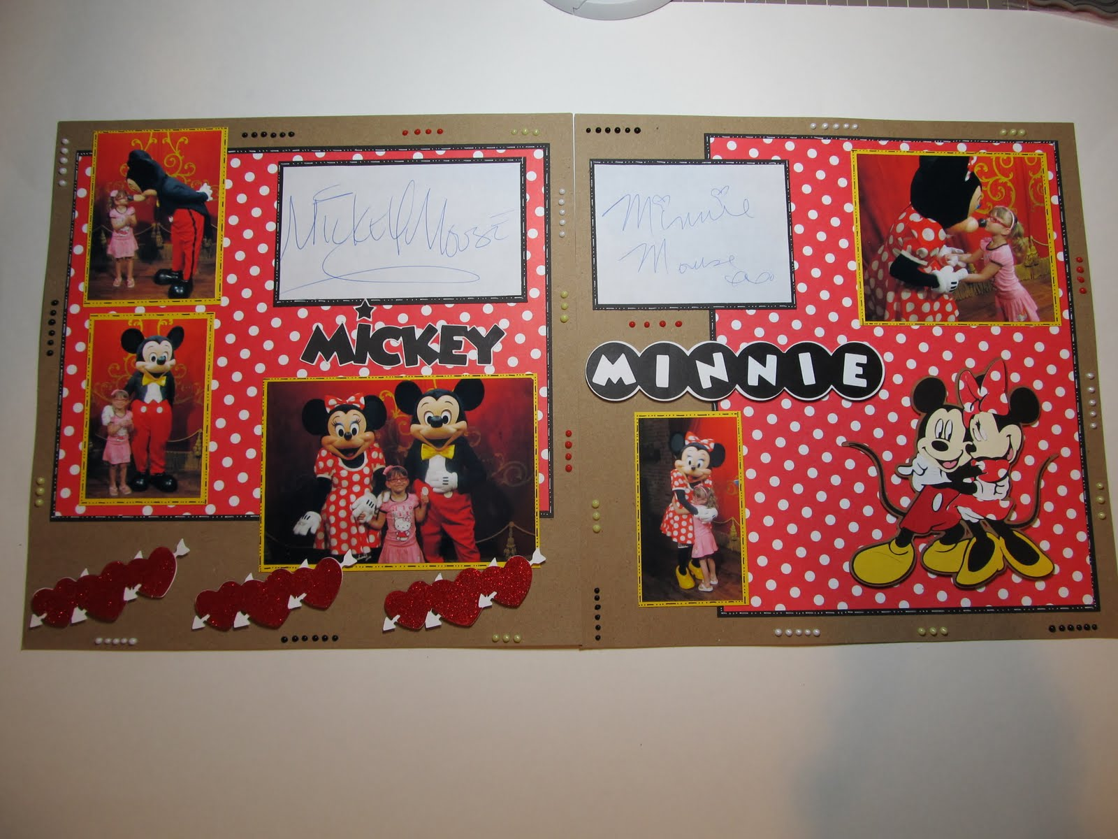 Creative Cricut Designs More Mickey And Minnie Scrapbook Layout