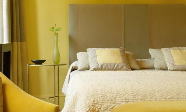 yellow color schemes for bedrooms with best designs