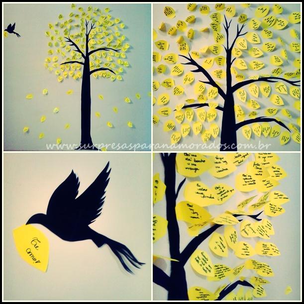 árvore de recadinhos