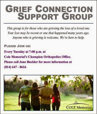 Tuesdays--Grief Connection Cole Memorial