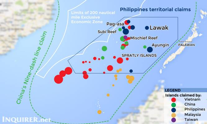 territorial claims of philippines The south china sea covers 3,500,000 sq km of area from the straits of malacca to the straits of taiwan, with territorial claims by china, vietnam, the philippines.