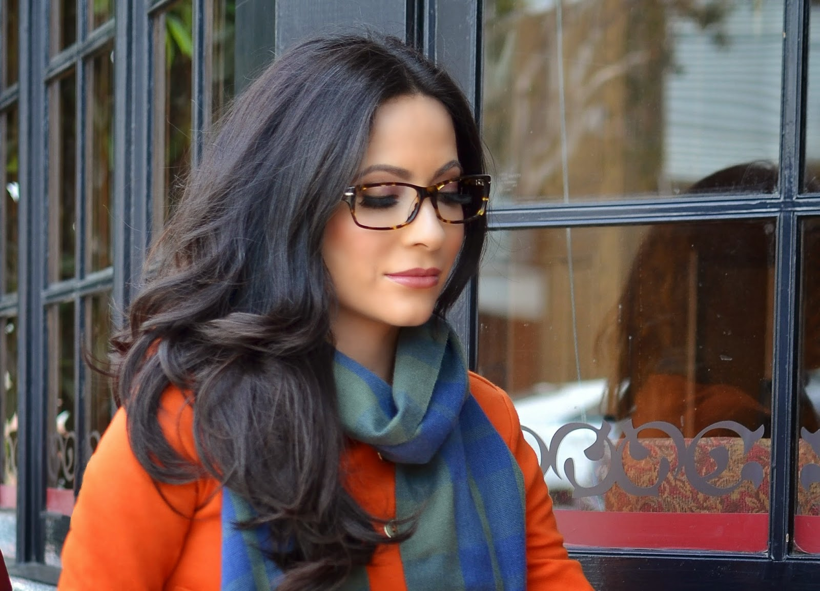 online optical c6di  Firmoo Eyewear Firmoocom Global Online Optical Store Orange H&M Jacket  Armani Exchage Navy Blue