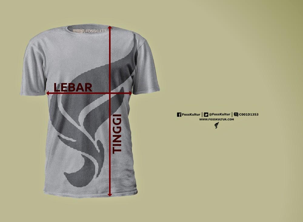 Ukuran Kaos T-Shirt FossKultur Linux