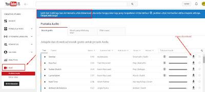 musik dan audio free lisensi youtube