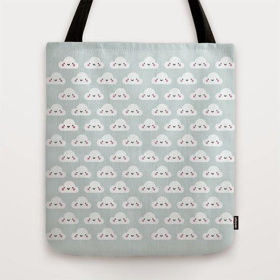 bolsa algodon nubes sonrientes