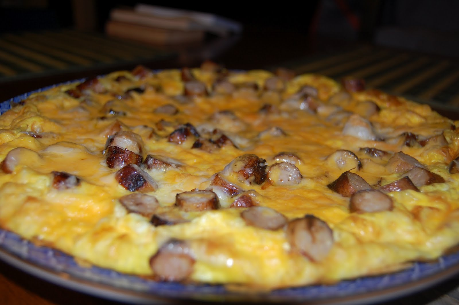 ... Curiosities and more...: Chicken Sausage, Egg and Cheese Frittata
