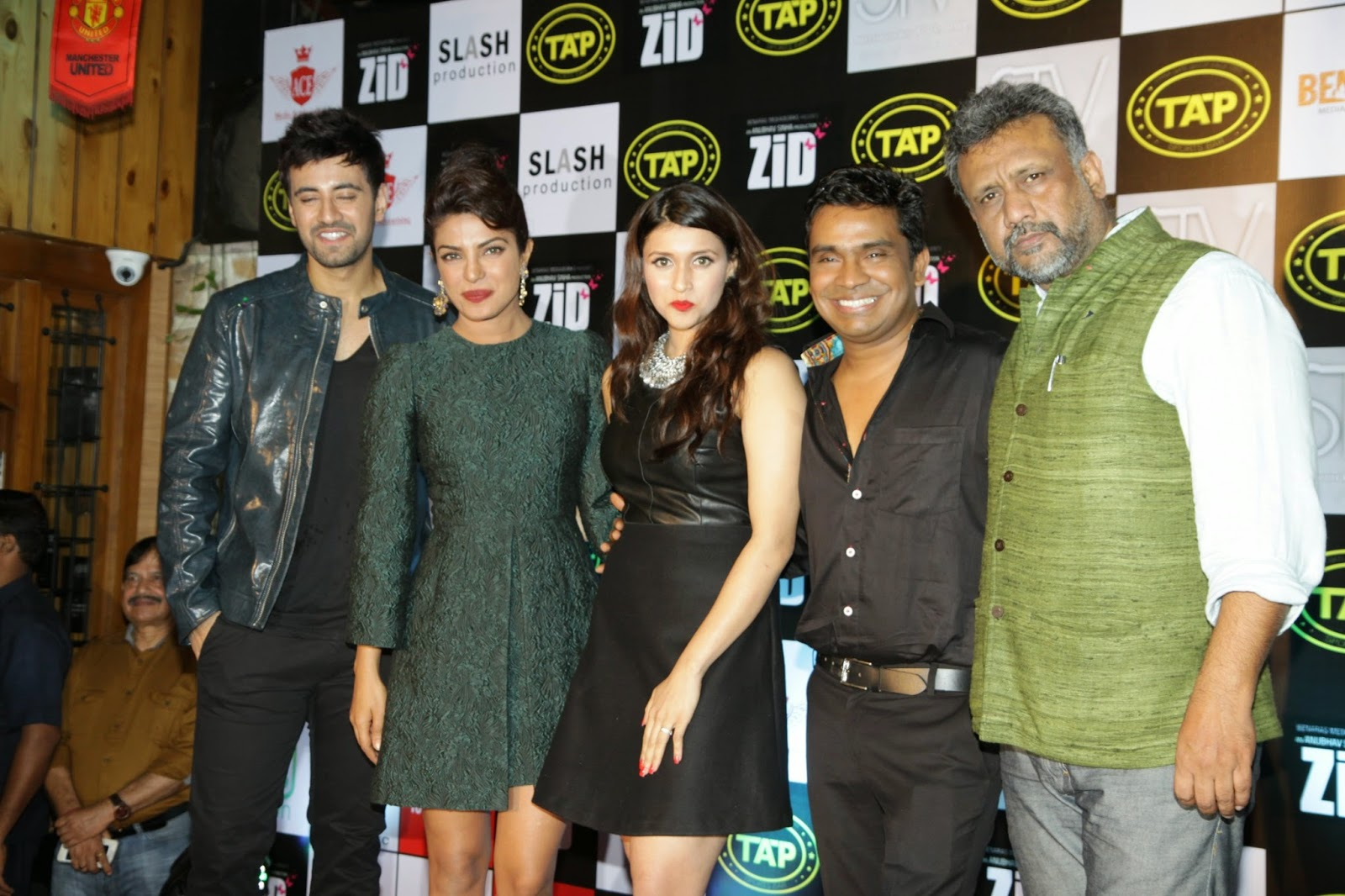 Priyanka Chopra at Zid Music success bash with Mannara and Karanvir