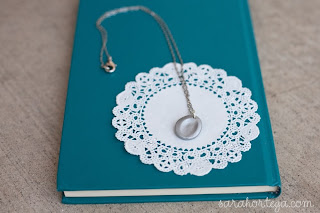 faux silver finger print necklace tutorial for mothers day