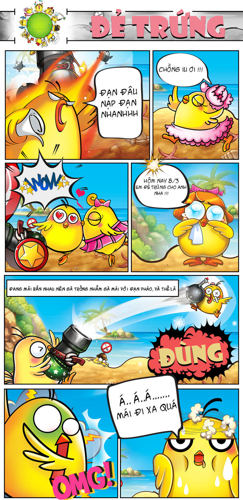Mẩu truyện tranh gunny vui đẻ trứng