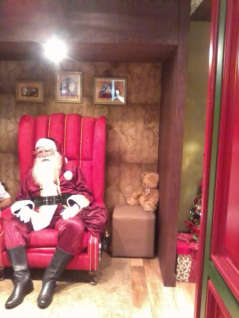 decoração de natal e santa claus