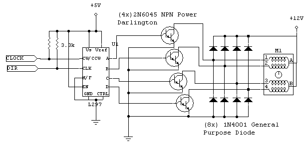 Schematics diagrams stepper motor control schematics diagrams Step motor driver circuit