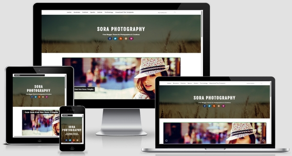 Sora Photography Responsive Blogger Template Free Download