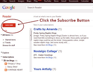Subscribe in Google Reader