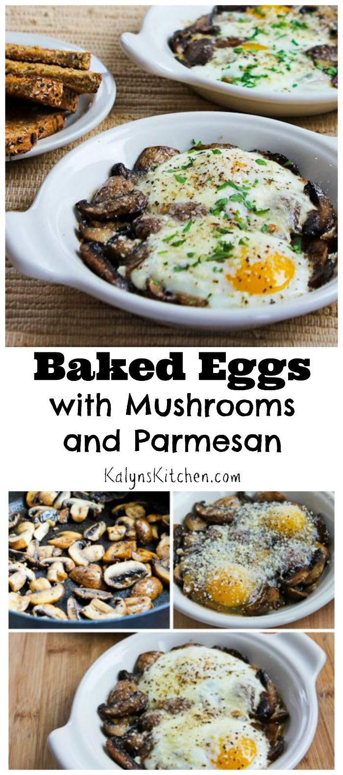 Kalyn's Kitchen®: Baked Eggs with Mushrooms and Parmesan