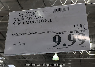 Deal for the Kilimanjaro Magnus Multitool at Costco