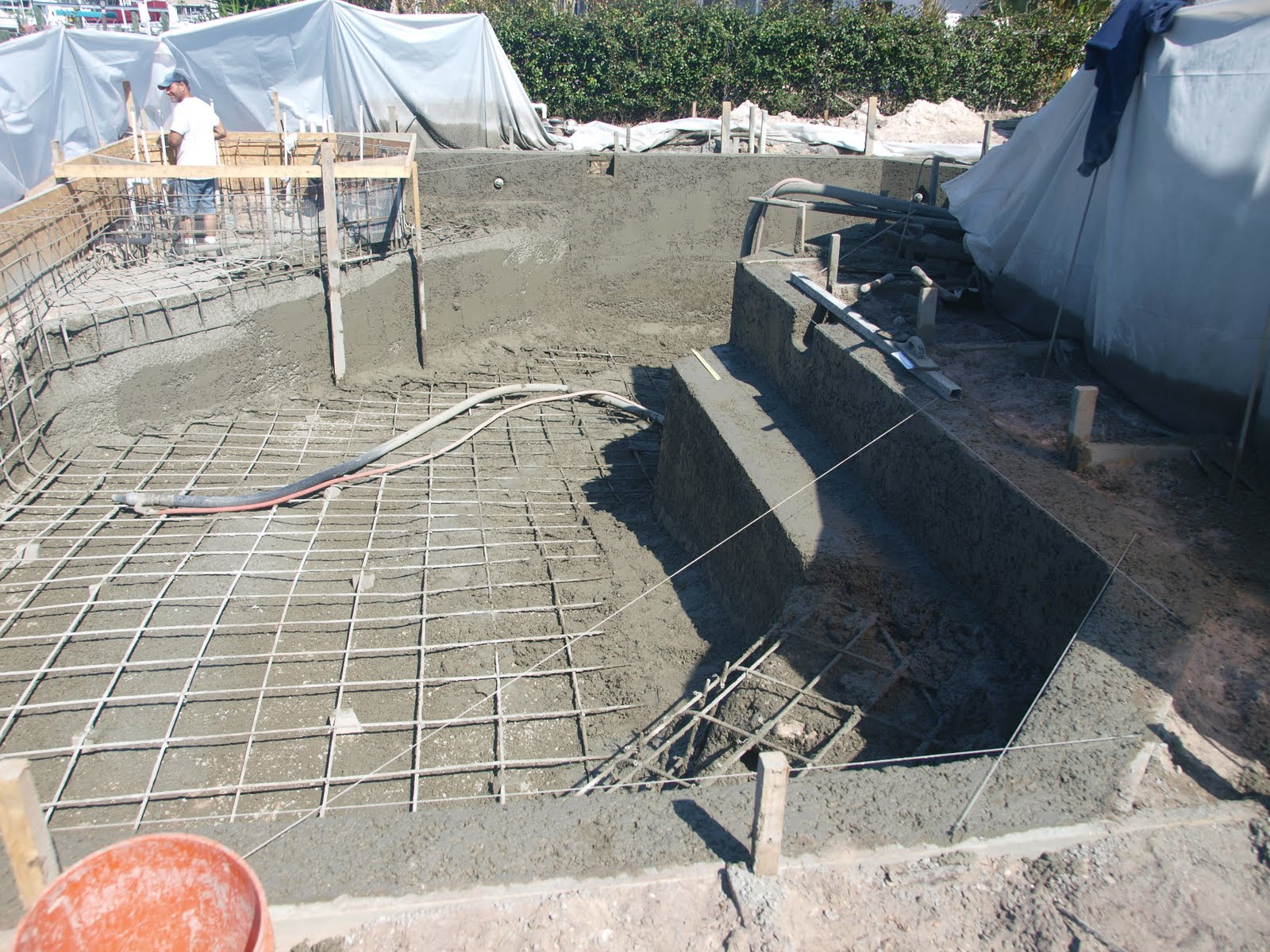 The New Blue Pool Shotcrete Complete