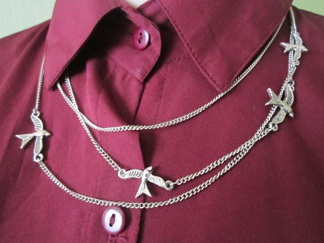 náhrdelník s vtáčikmi