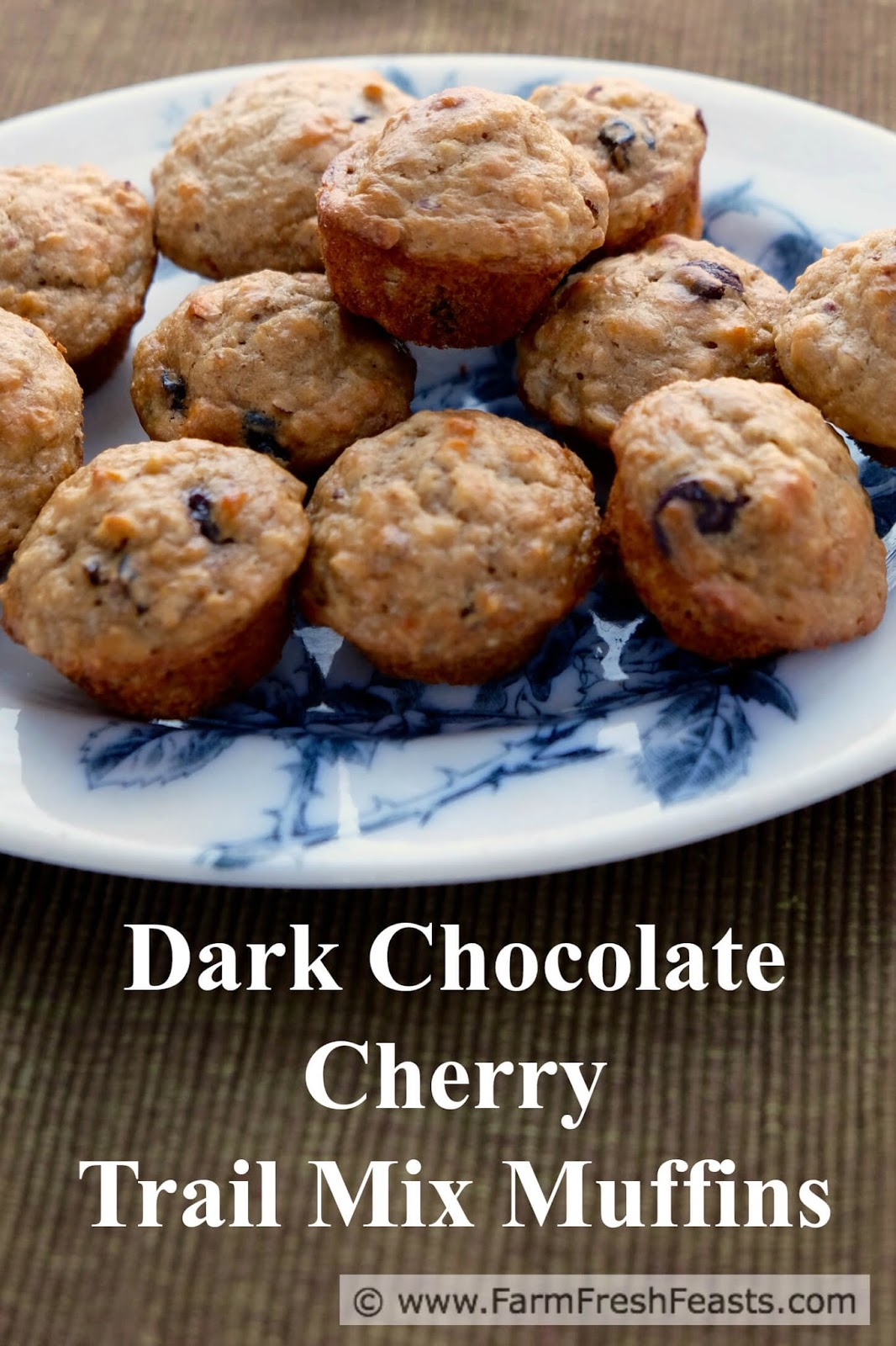 ... Fresh Feasts: Dark Chocolate Cherry Trail Mix Muffins {Monday Muffins