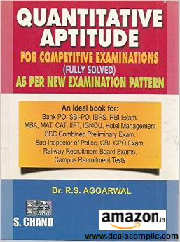 Quantitative Aptitude For Competitive Examinations for Rs. 210 at Amazon