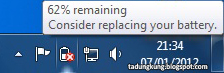 "Menghilangkan Pesan ""Consider replacing your battery"" di Windows 7"