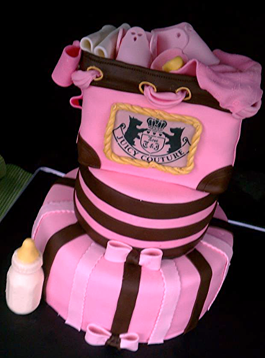 Sweet Cakes Juicy Couture Baby Shower Cake