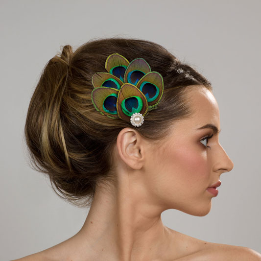 I do it yourself peacock feather hair accessories whether youre planning a peacock themed wedding or not you might have still considered peacock feather hair accessories there are plenty of great sellers solutioingenieria Images