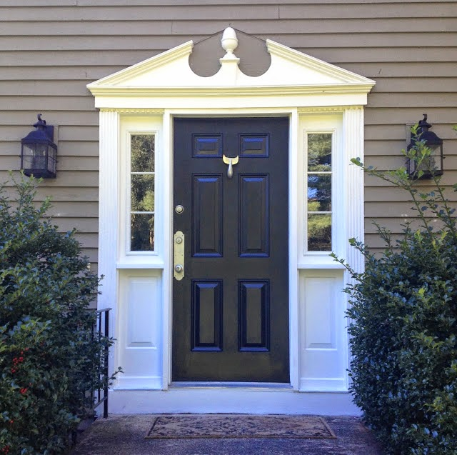 Beyond the aisle home envy colonial houses for Colonial entry door