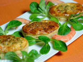Petit flan de tarama aux crevettes