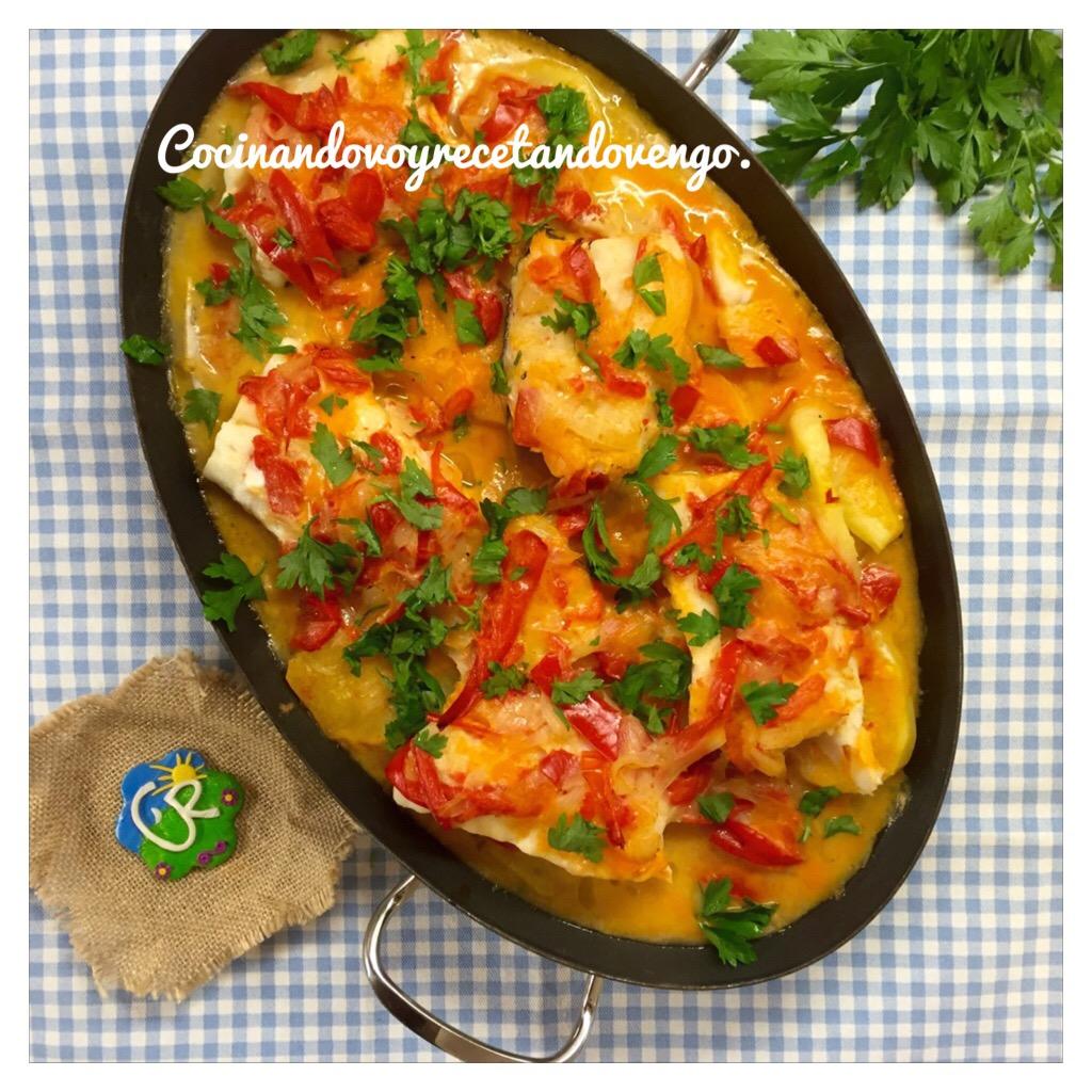 Cocinando voy recetando vengo bacalao fresco al horno for Como cocinar bacalao al horno