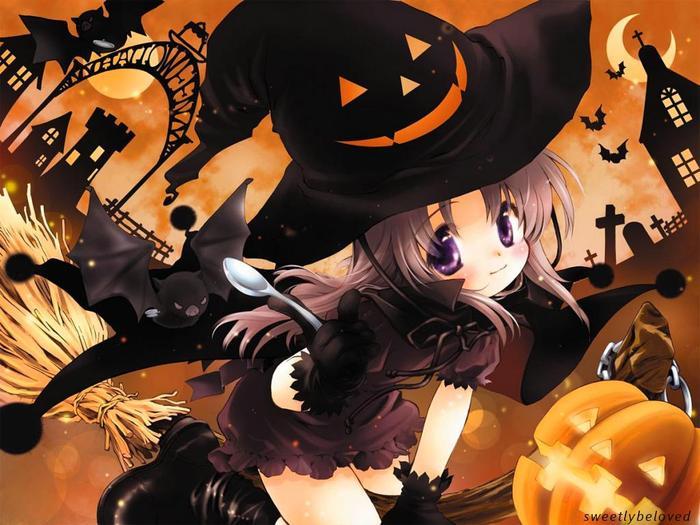 Bruxinha no Halloween